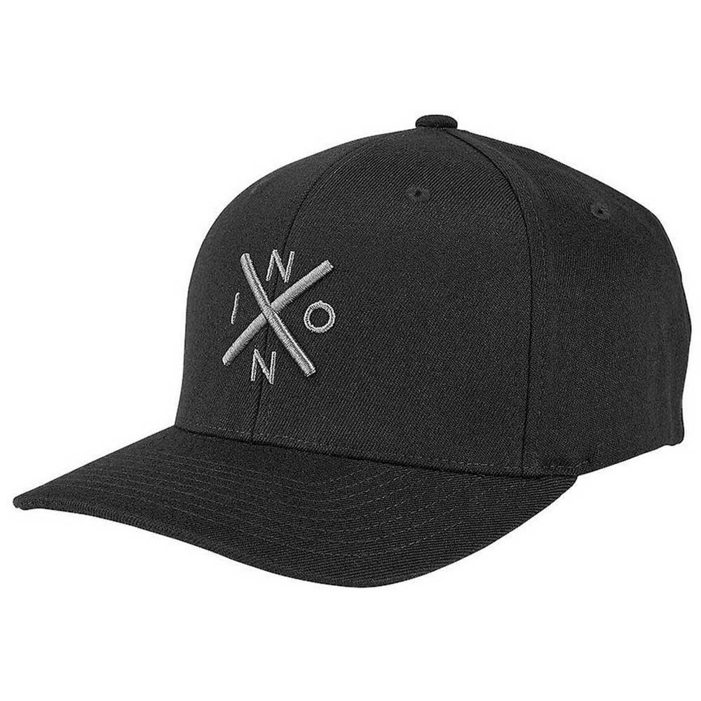 L//XL Black//White NIXON Exchange Flex Fit Cap