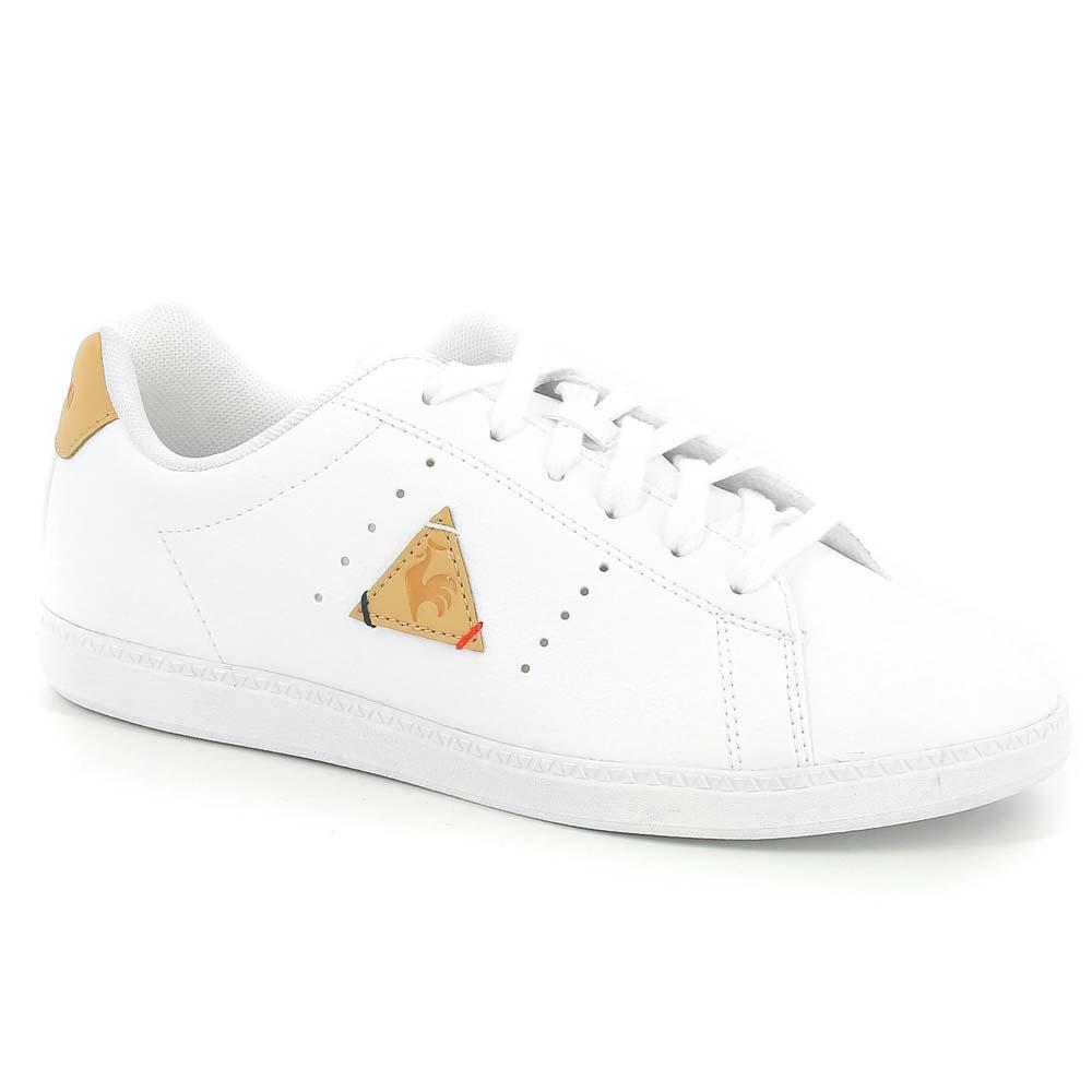 a9ca98ae76eb Le coq sportif Courtone Synthetic Leather White