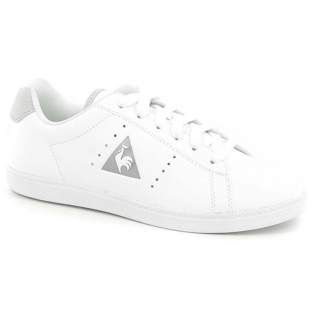 35f8659854 Le coq sportif Courtone Synthetic Leather/Metallic Mesh White, Dressinn