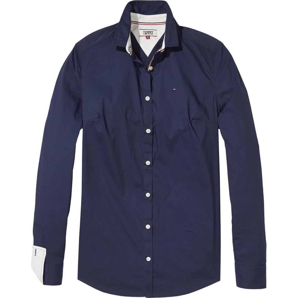 c9d3c9f4 Tommy hilfiger Slim Fit Poplin Blue buy and offers on Dressinn