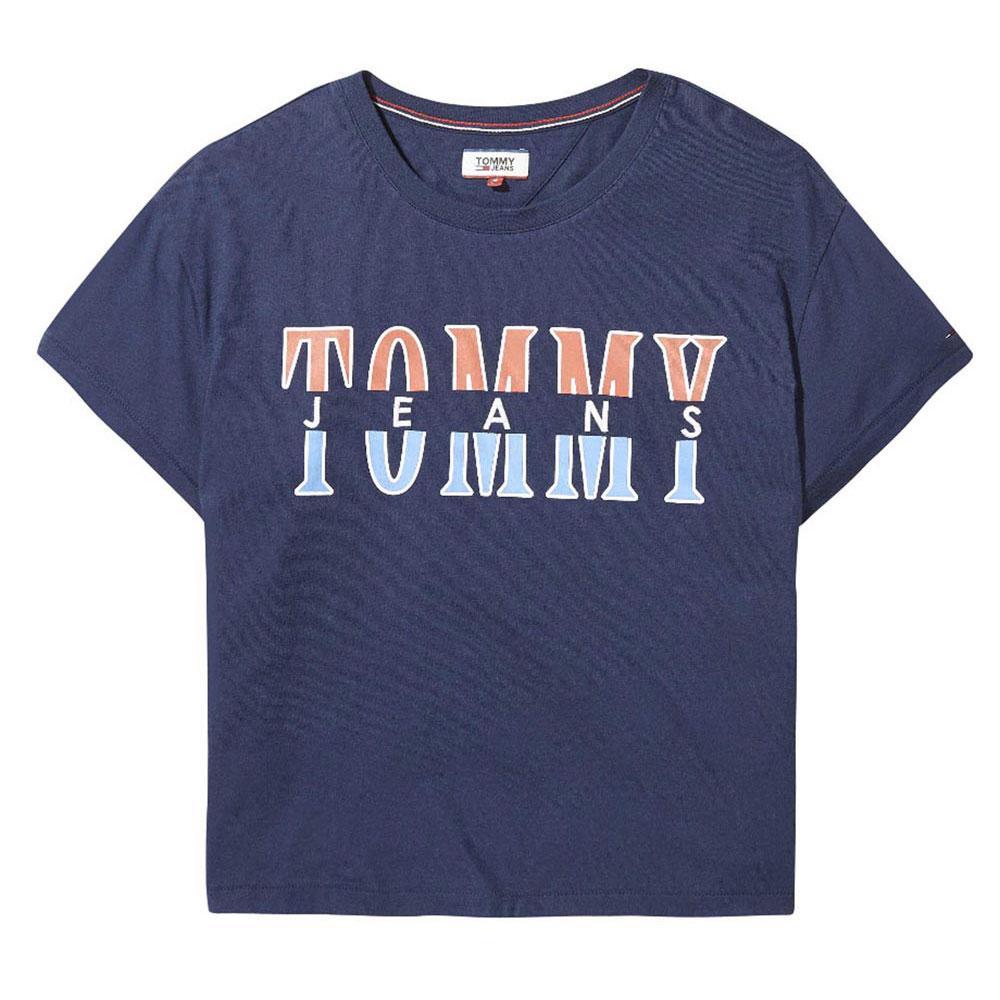 929b58f7c Tommy hilfiger Retro Logo Tee Blue buy and offers on Dressinn