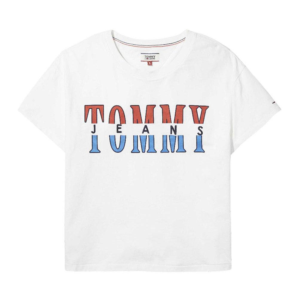 9dabea819 Tommy hilfiger Retro Logo Tee Branco, Dressinn