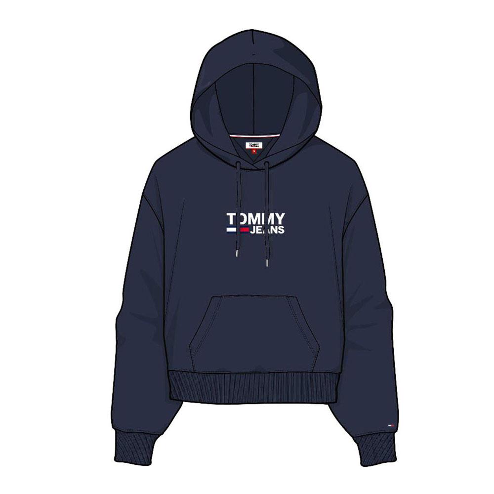 6f6a54945b9b Tommy hilfiger Corp Logo Hoodie Blue buy and offers on Dressinn