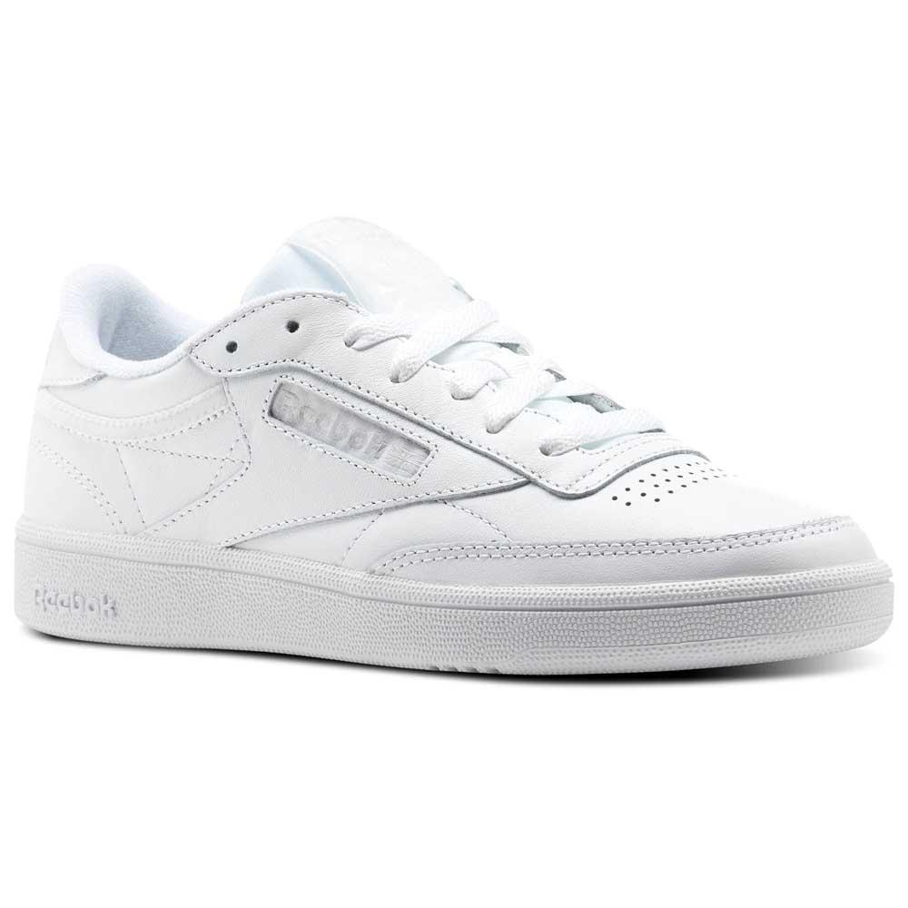 Reebok – Classic Club C 85 – Vita sneakers i läder med gummisula