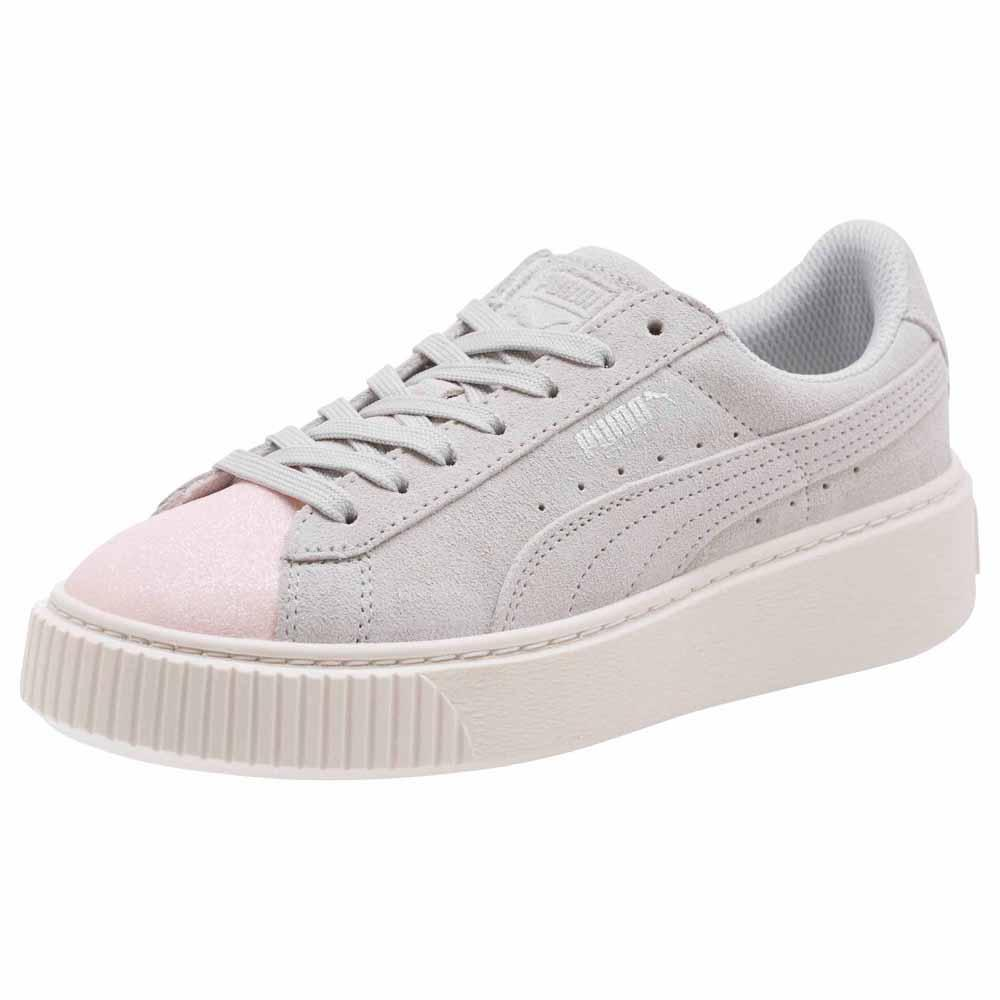 c9916eee6d8 Puma select Suede Platform Glam Grey buy and offers on Dressinn