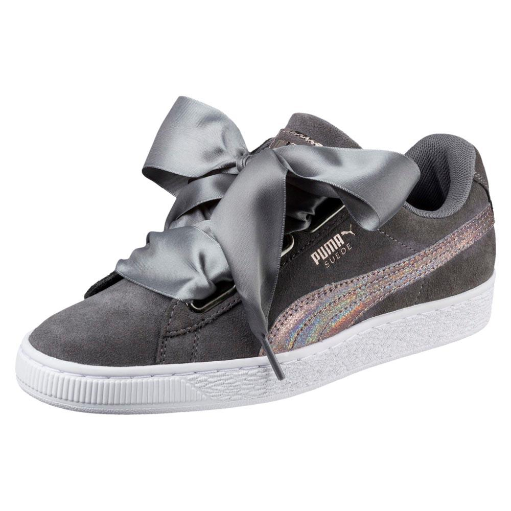 2b82fe85effa84 Puma select Suede Heart Lunalux Grey buy and offers on Dressinn