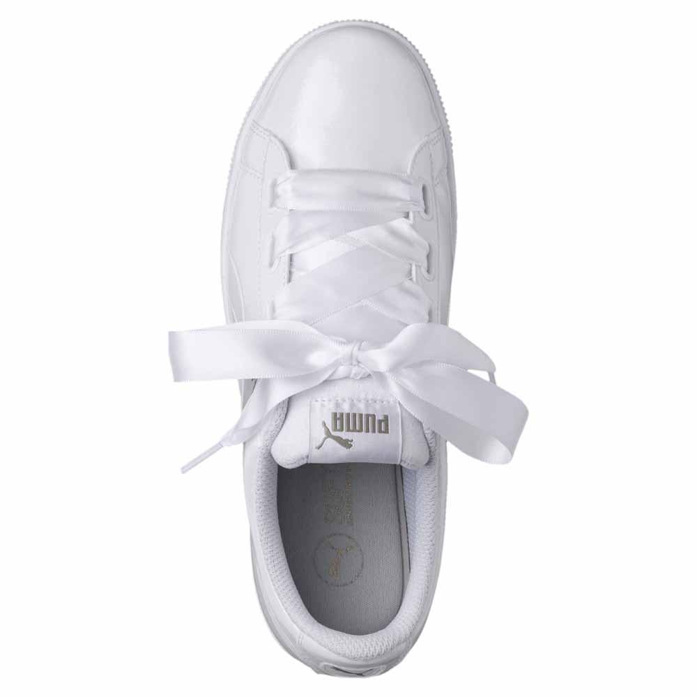 puma vikky platform white ribbon