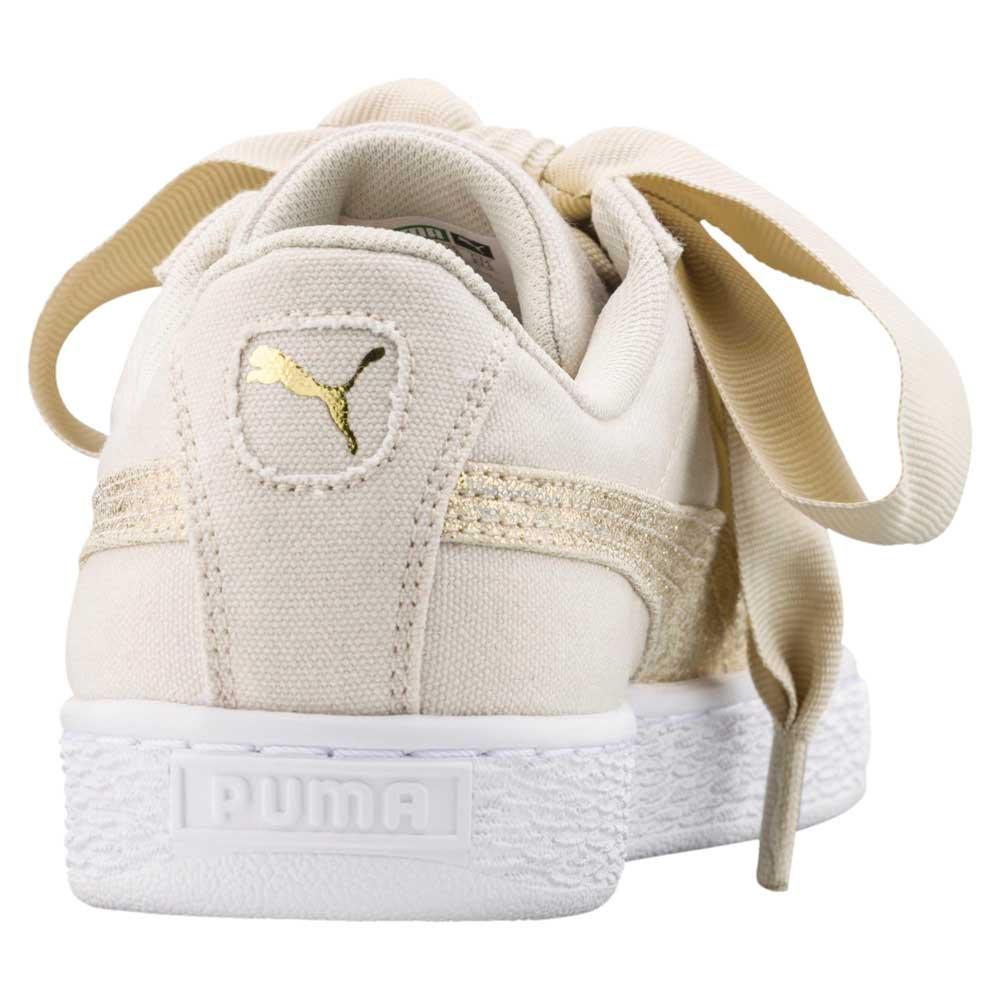 8d4a501f2b3ba1 Puma select Basket Heart Canvas Beige buy and offers on Dressinn
