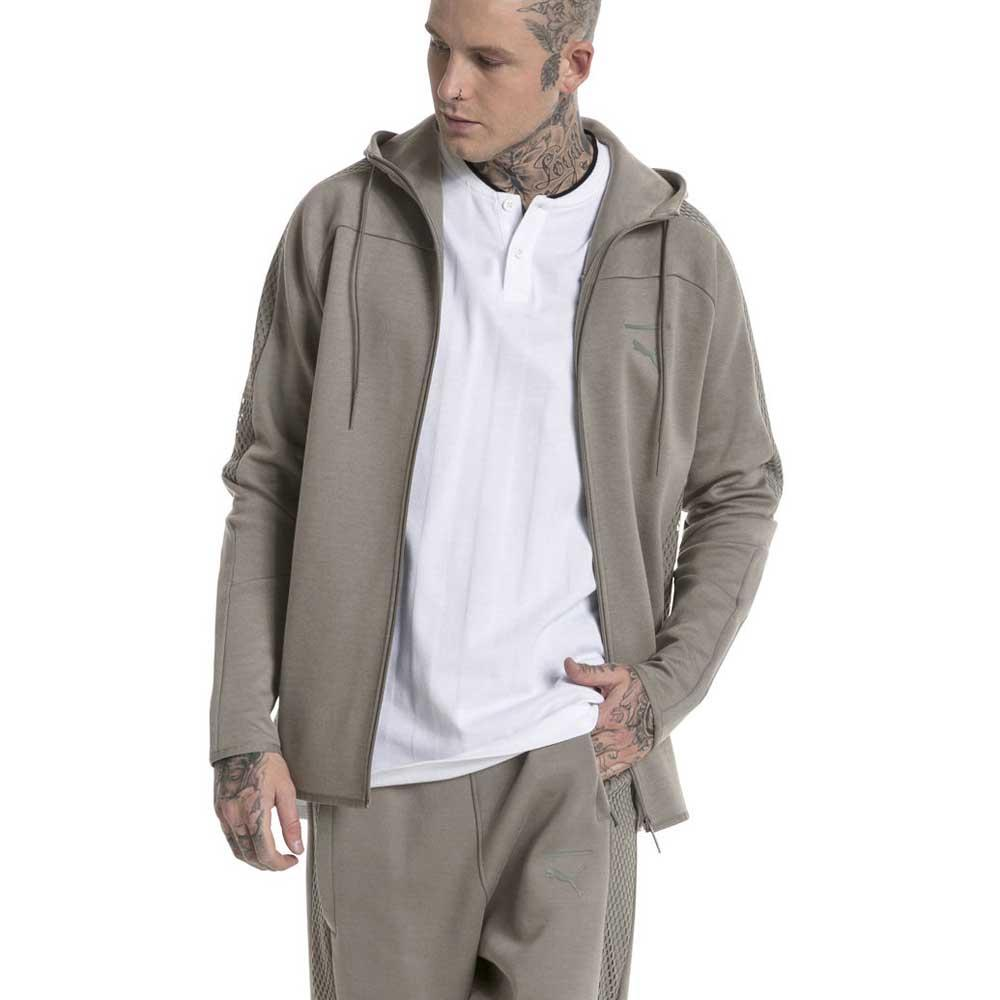 2e6b6e1075 Puma Pace Net Full Zip Hooded Grey buy and offers on Dressinn
