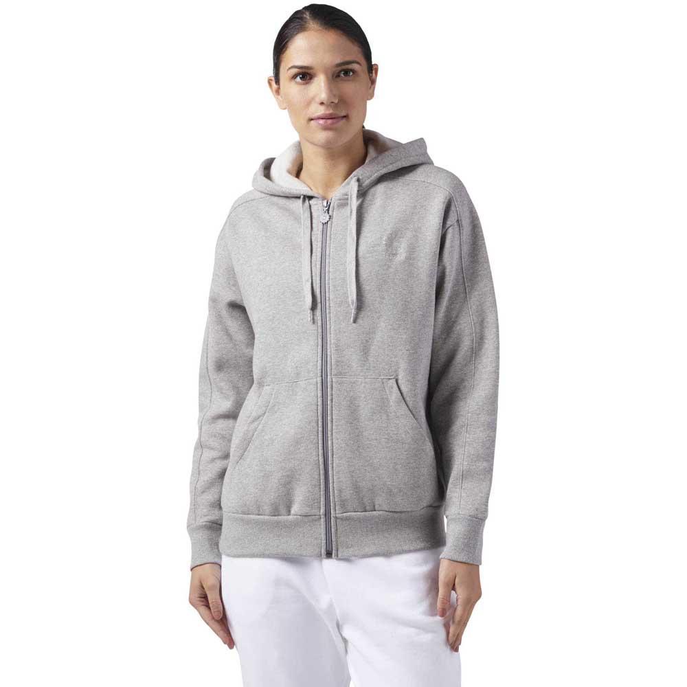 Reebok classics F Fleece Full Zip Hoody Grey, Dressinn
