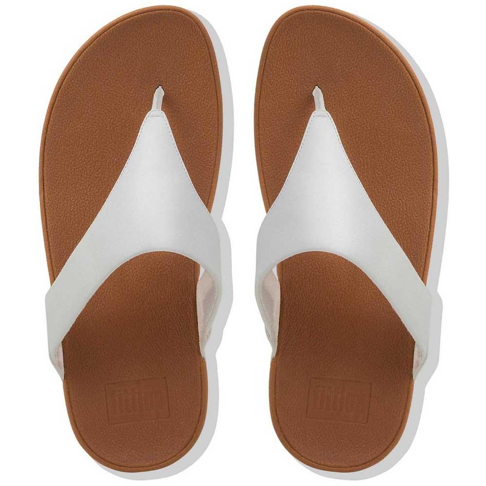 56bcc64646f Fitflop Lulu Leather Toepost White buy and offers on Dressinn