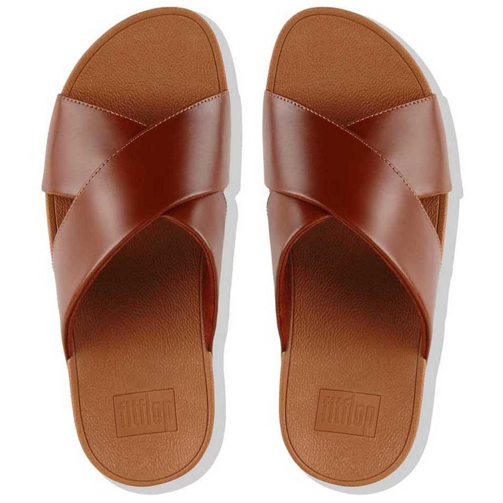 2bc3156ae5263 Fitflop Lulu Cross Slide Brown buy and offers on Dressinn