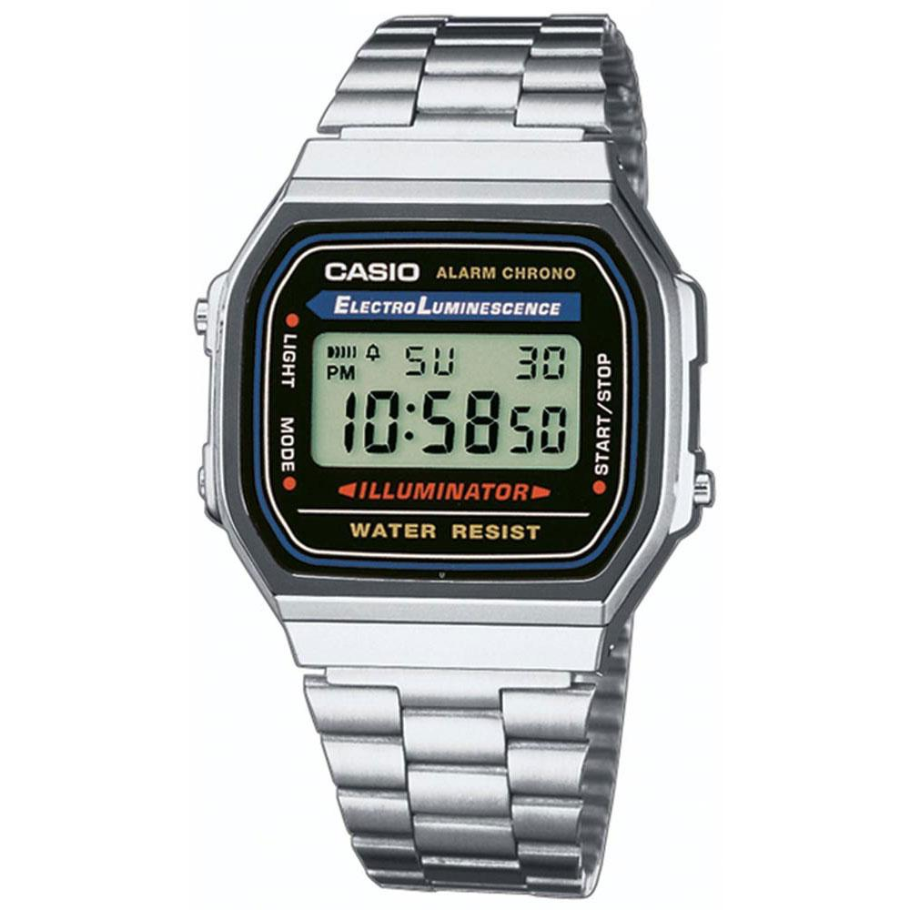 6ed68fd37118 Casio Retro Vintage A168WA Silver buy and offers on Dressinn