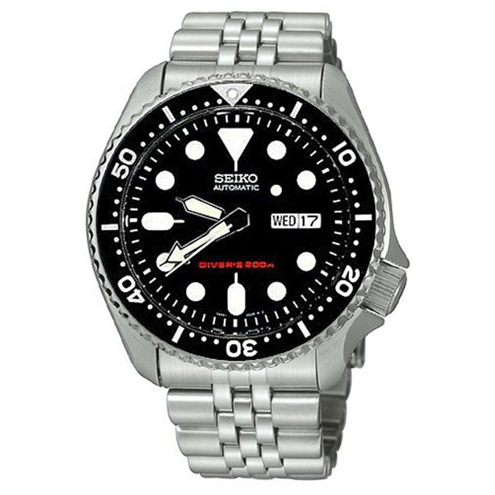 Seiko Watches Divers Skx007k2 Schwarz Dressinn Automatic 200m Black Dial