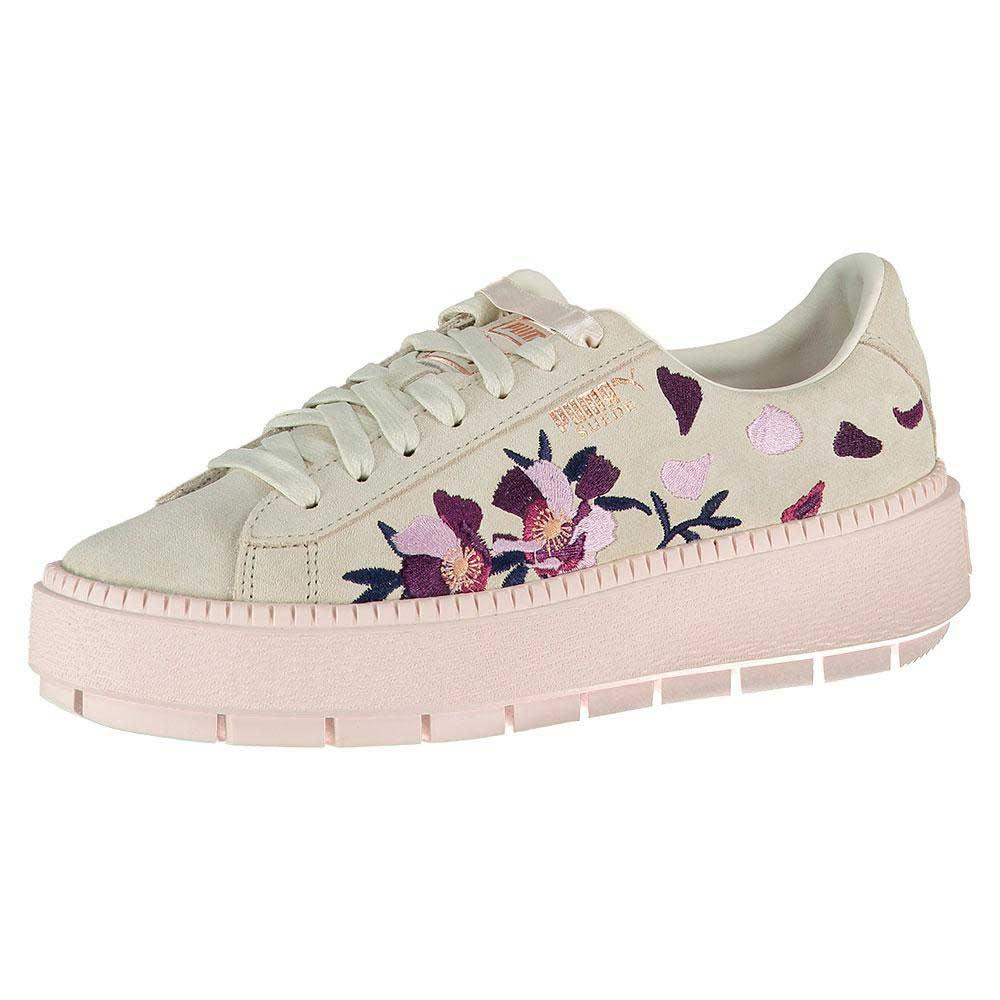 709b3241a8c Puma select Suede Platform Trace Flowery Beige