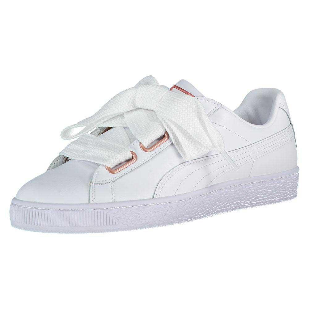 puma basket heart leather sneakers