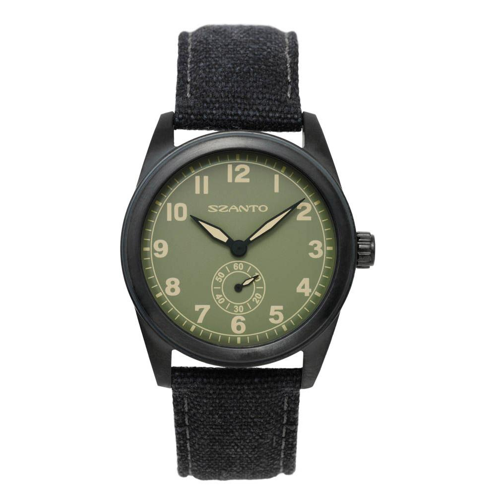 Szanto 1005 Classic Military Field One Size Steel Black / Canvas Charcoal