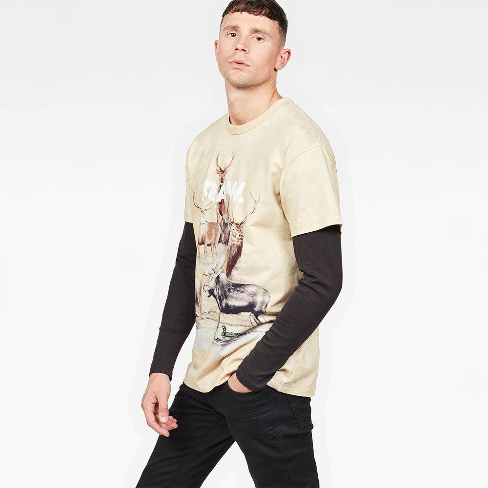 T-shirts Gstar Cyrer Desert Loose Round Neck