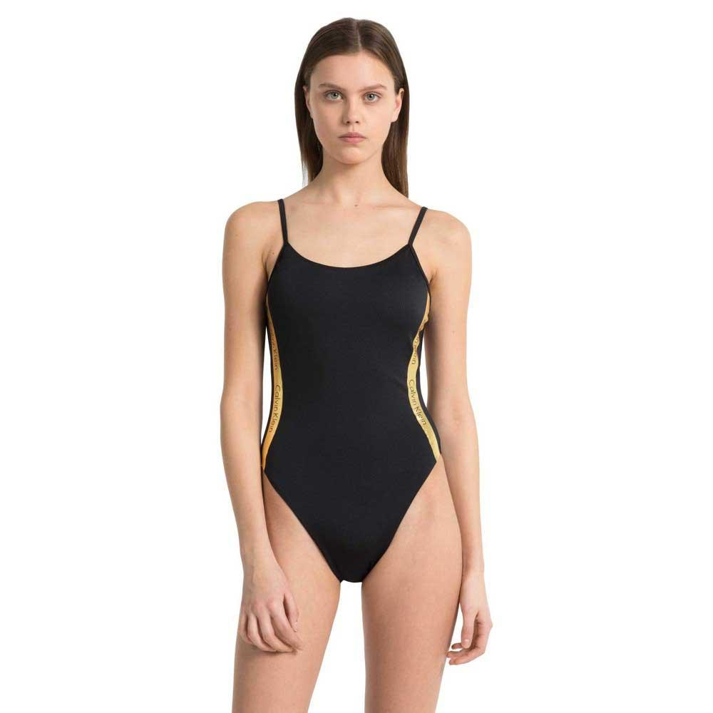 877680de81 Calvin klein Cheeky Scooped One Piece Black, Dressinn