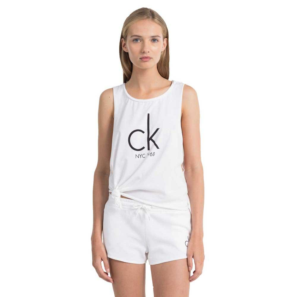 73bbc7bd Calvin klein NYC Side Knot Tank White buy and offers on Dressinn