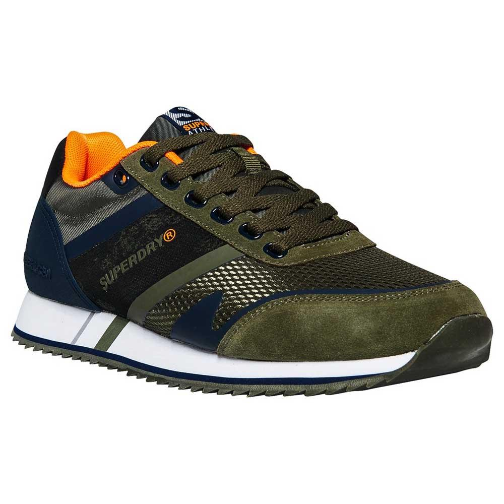 63a67f5396a8 Superdry Fero Runner Green buy and offers on Dressinn