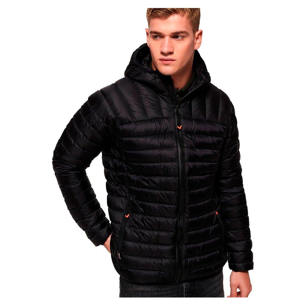 012b1061c555 Superdry Core Down Hooded Negro comprar y ofertas en Dressinn