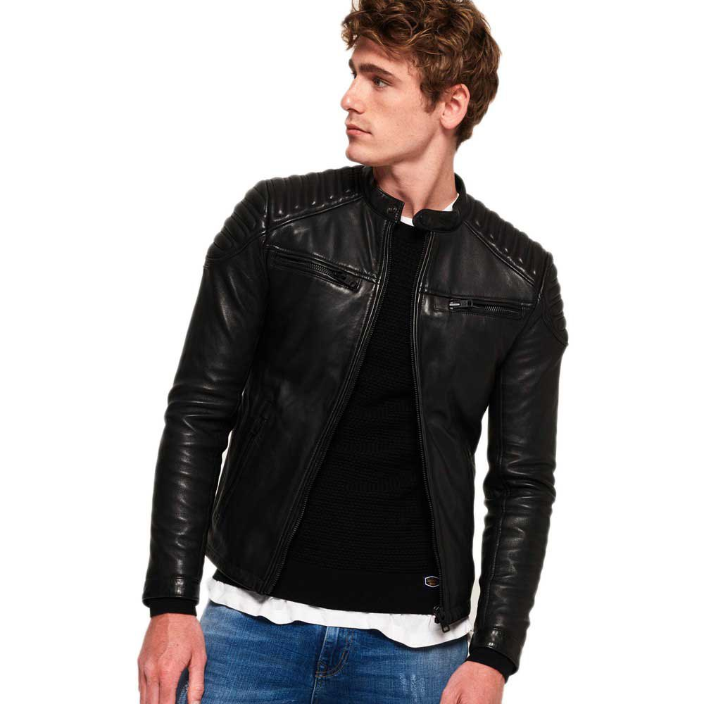1de267722b33 Superdry New Hero Leather Racer Black buy and offers on Dressinn