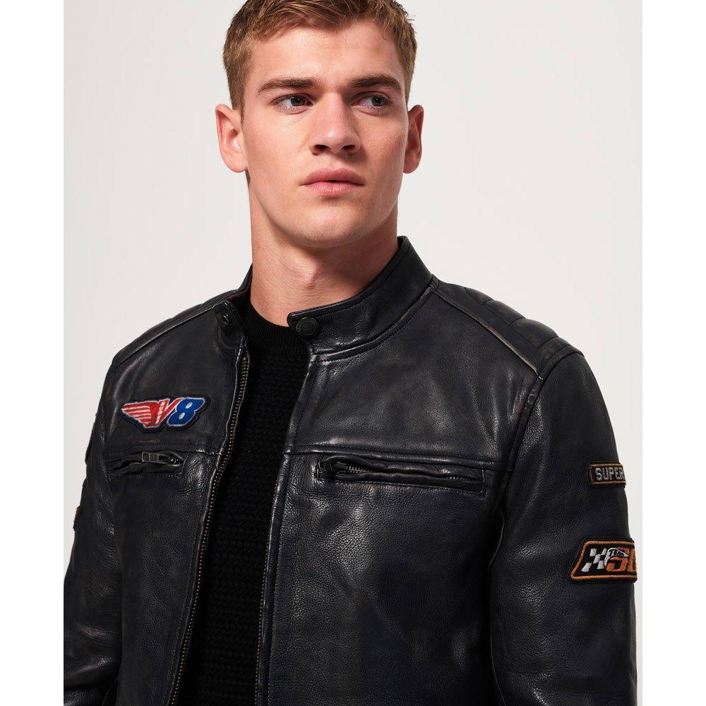 Superdry Endurance Road Trip Leather Noir, Dressinn
