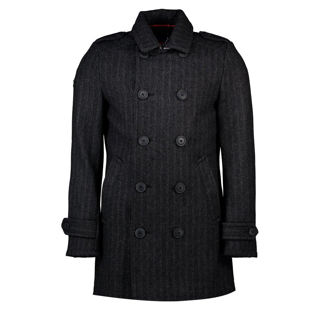 SuperDry Mens New Bridge Coat Jacket Grey
