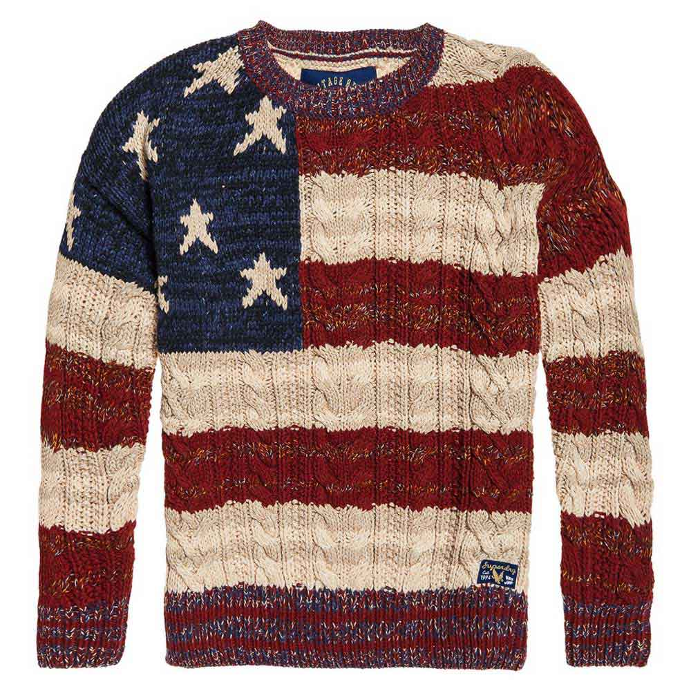 476e94546 Superdry Americana Cable Knit Multicolor