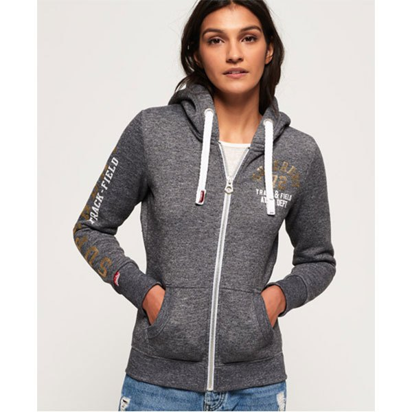 34d3faf5 Superdry Track & Field Ziphood Grey buy and offers on Dressinn