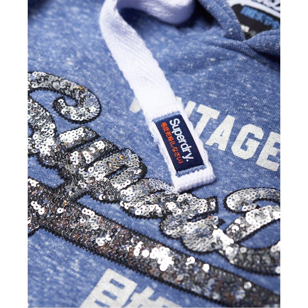 Superdry Shirt Shop Sequin Entry Blau mode Damenkleidung Pullover Superdry