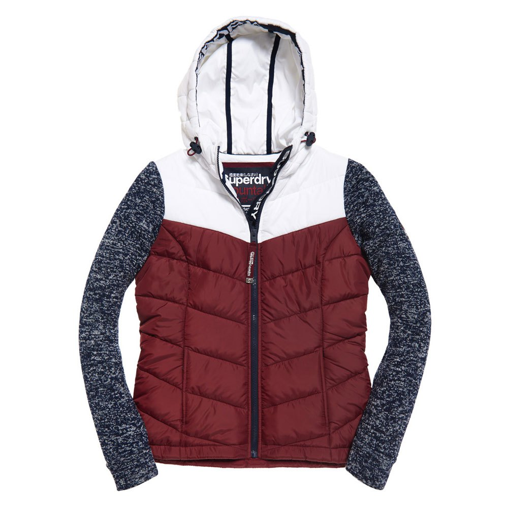 5c49440fc0 Superdry Storm Hybrid Colourblock Ziphood Red