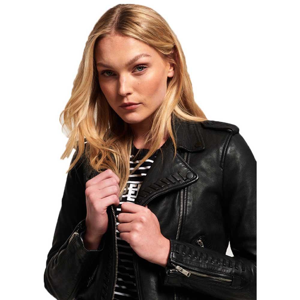 kiki leather biker jacket