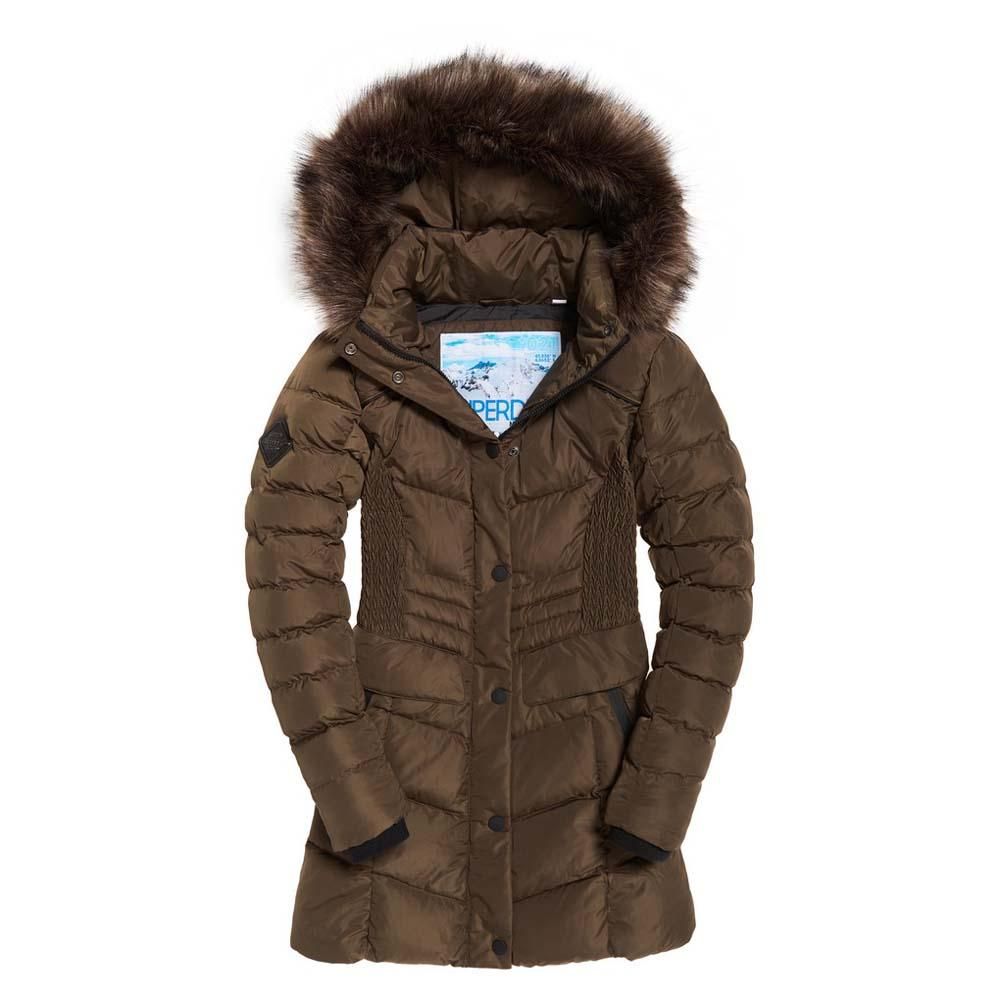 Superdry Glacier Padded Parka Green buy and offers on Dressinn
