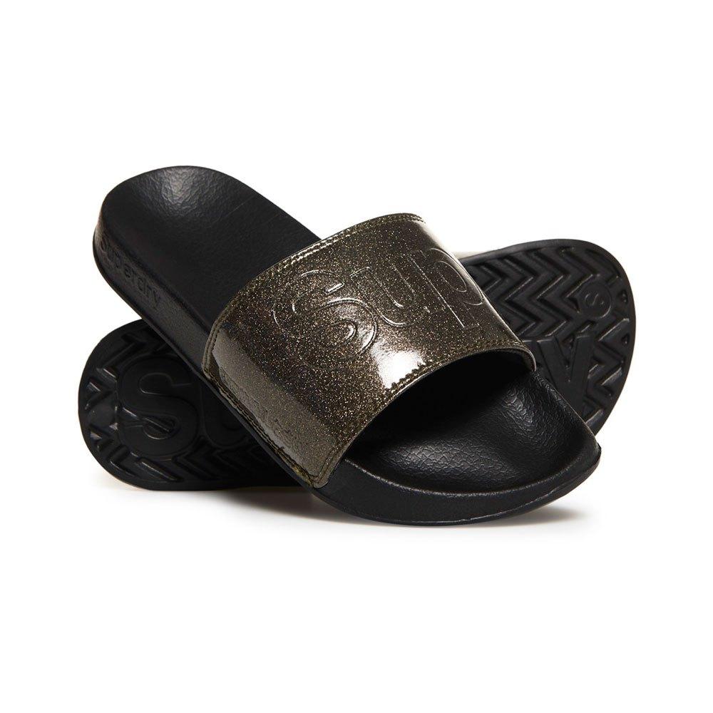 12a09d7fc821 Superdry Pool Slide Black buy and offers on Dressinn