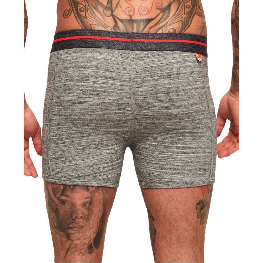 Superdry Sport Boxers Double Pack FINT GREY
