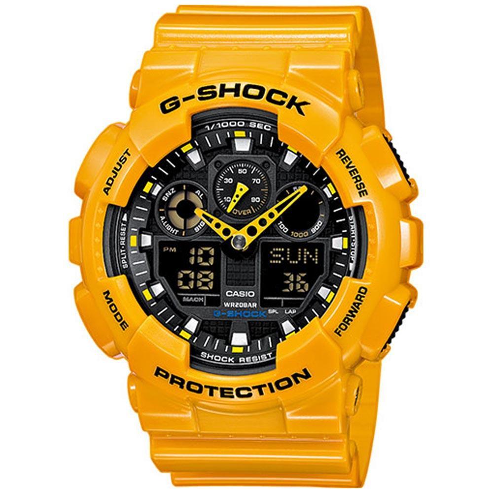 6c0f117a1de G-shock GA 100A 9AER Dourado comprar e ofertas na Dressinn
