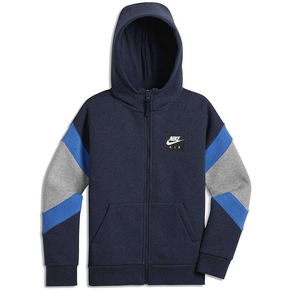 89561f3b90bd Nike Air Full Zip Hooded Blue buy and offers on Dressinn
