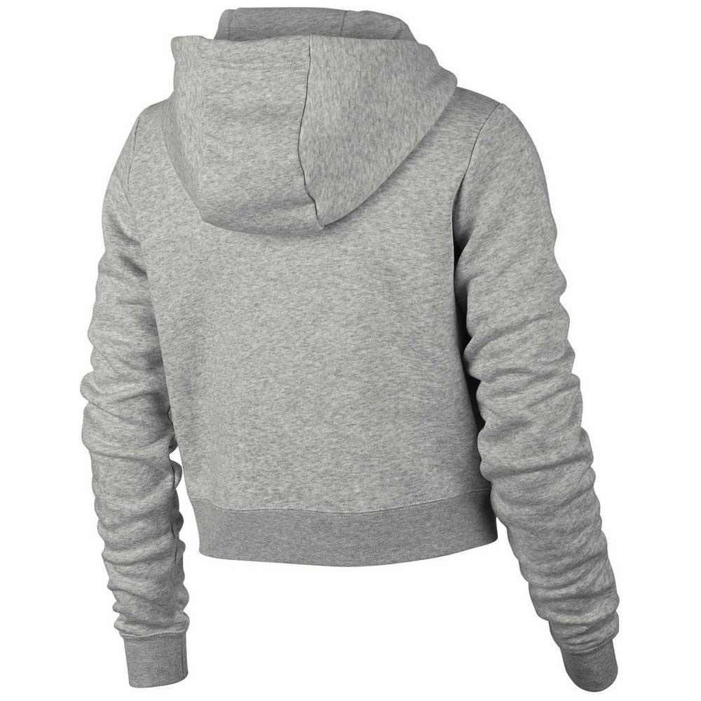 f3bde1305 Nike Sportswear Rally Hooded Crop Grey, Dressinn