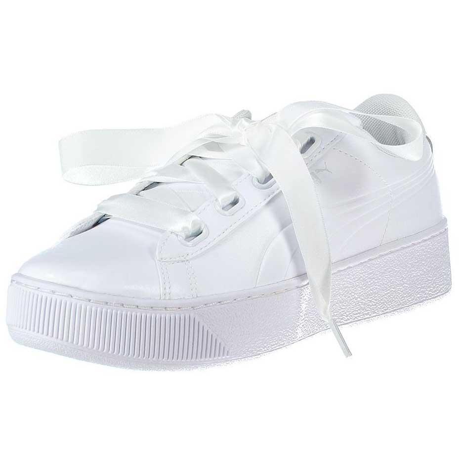 Puma Vikky Platform Ribbon SL White buy and offers on Dressinn 2e1f9e11f