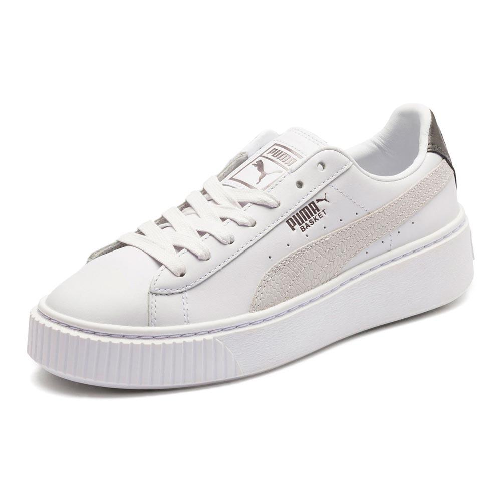 timeless design 529f7 c84a5 Puma select Basket Platform Euphoria Metallic White, Dressinn