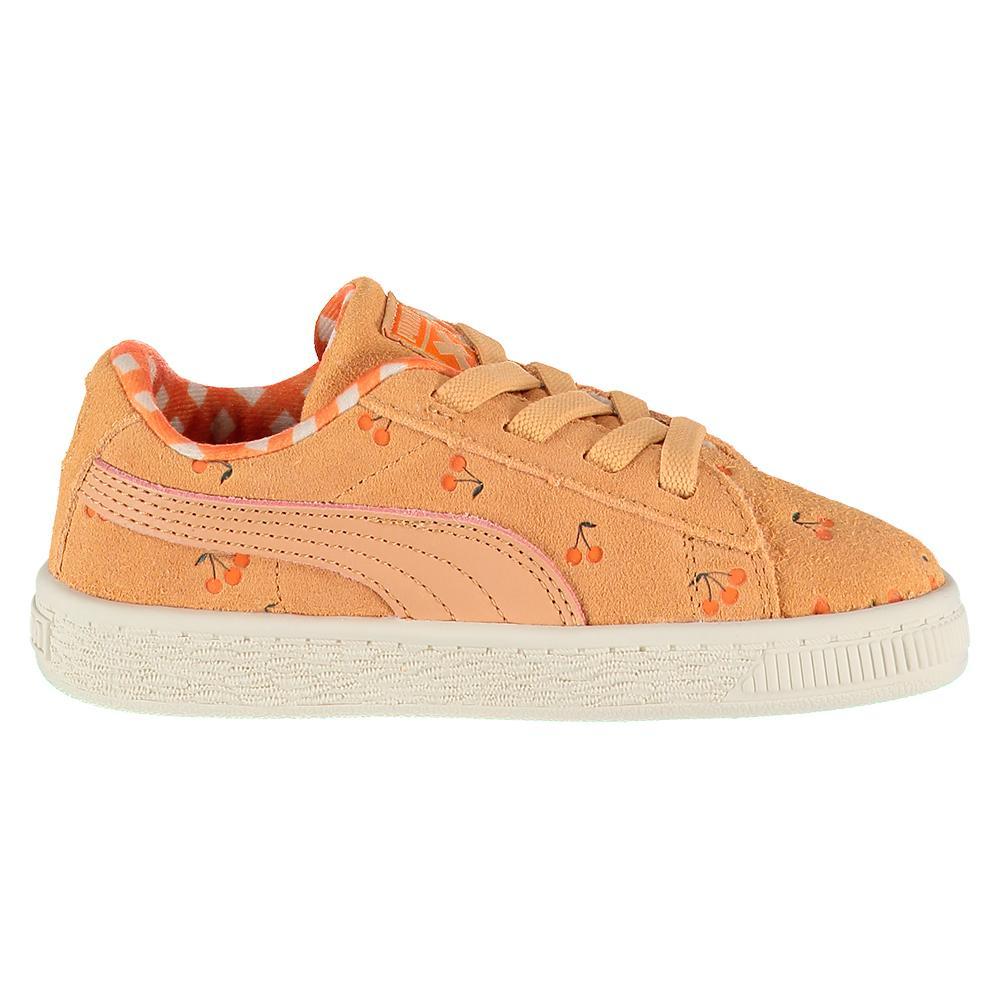 Puma select X TC Suede LDN AC Infant Oranje, Dressinn Sneakers