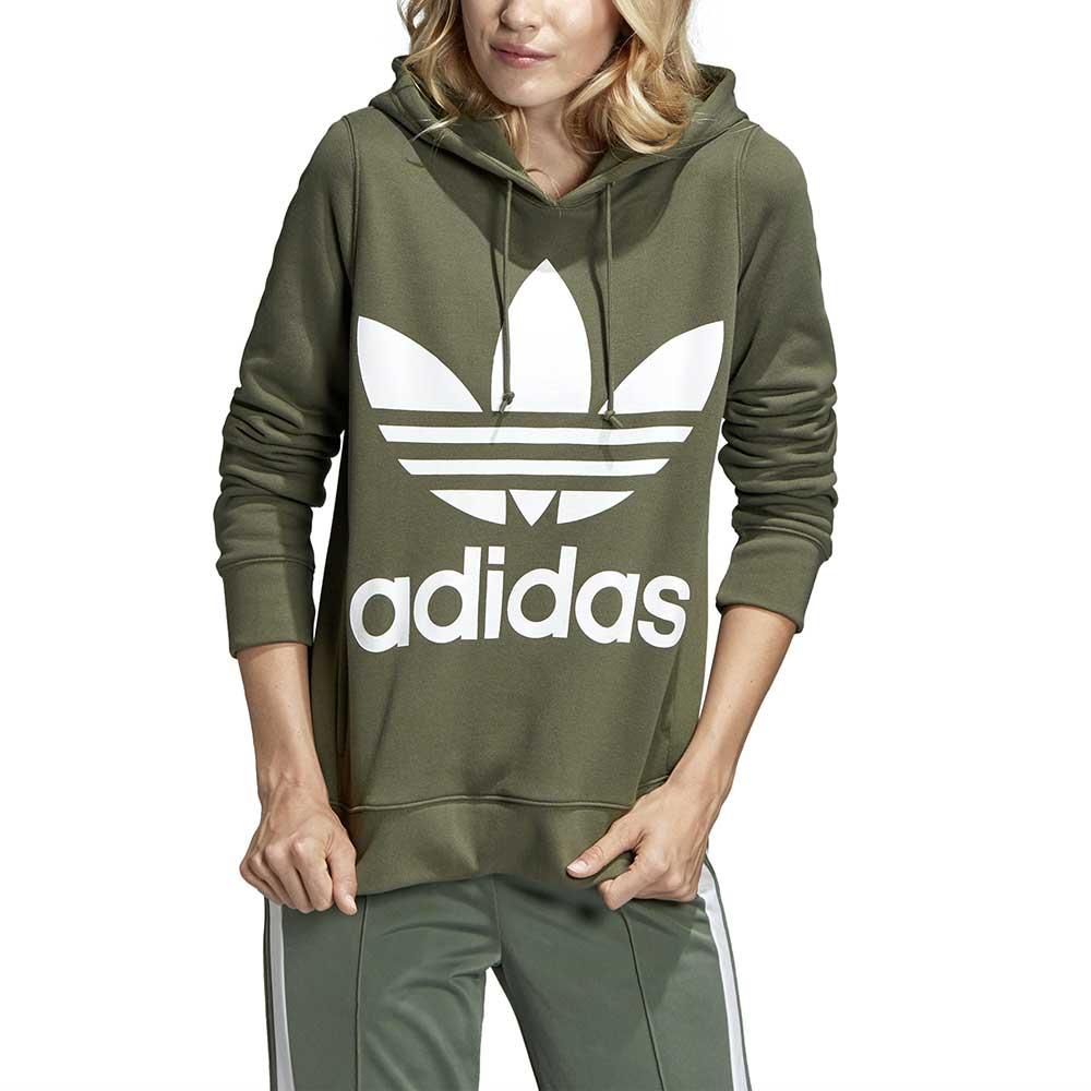 adidas originals Trefoil Hooded Grøn køb og tilbud, Dressinn