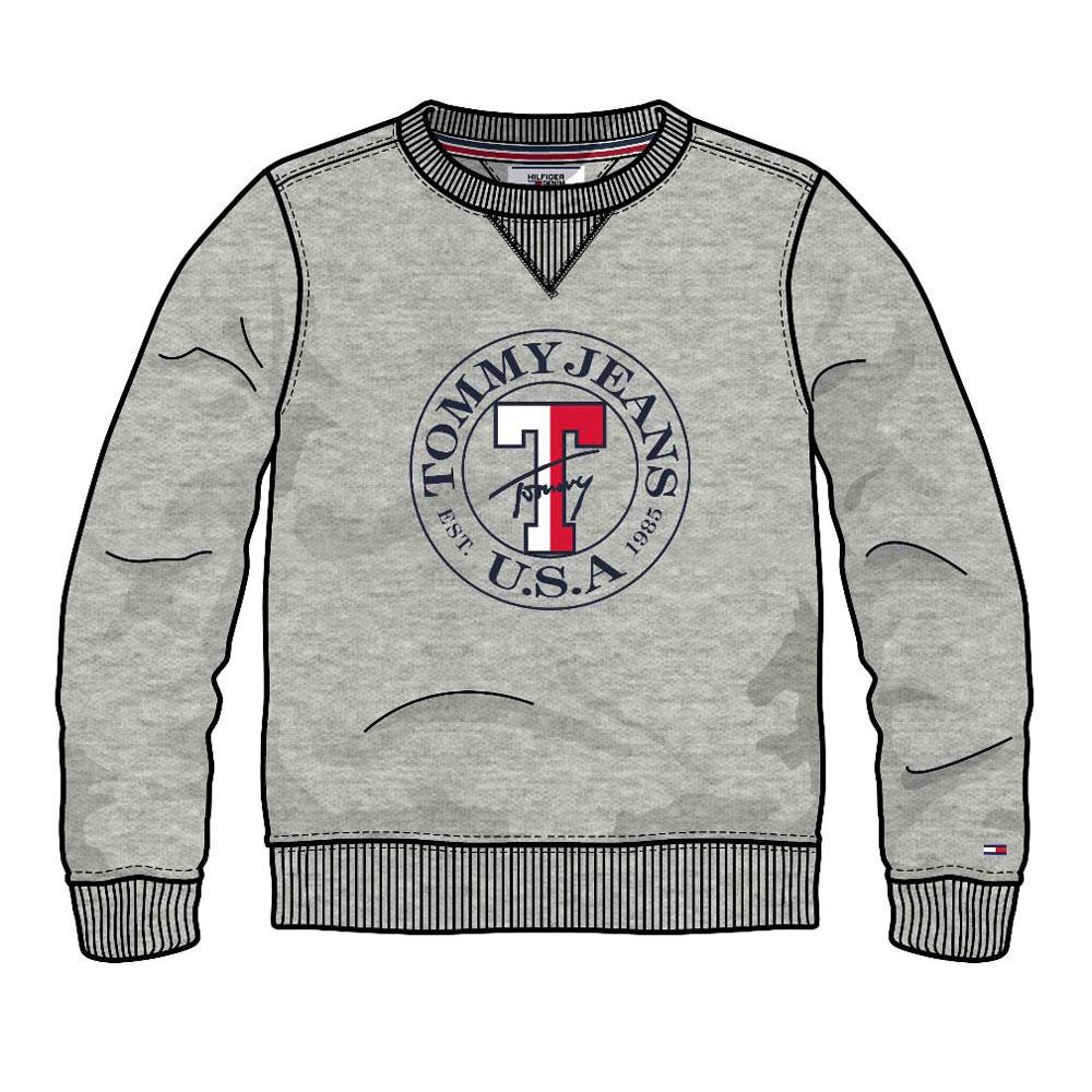 5b9c17aa Tommy hilfiger Circle Logo Crew Grey buy and offers on Dressinn