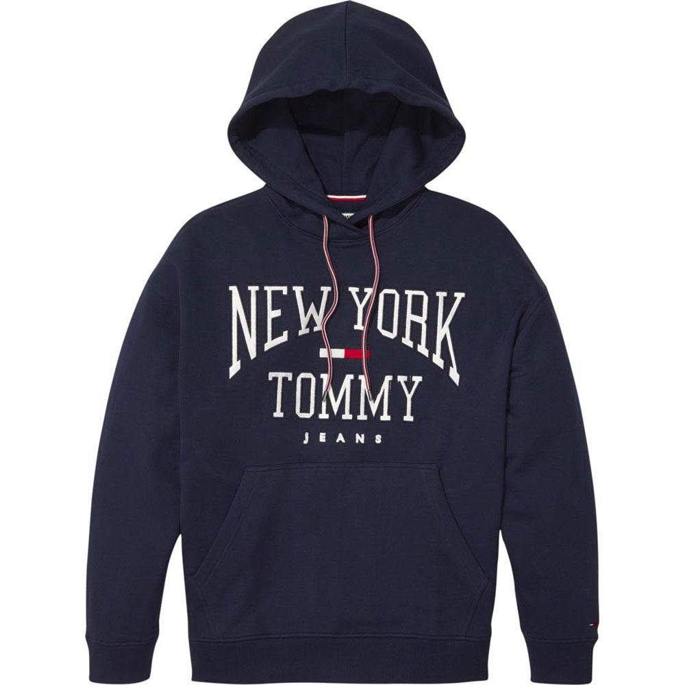 Tommy hilfiger Boyfriend Logo Hoodie Blau, Dressinn