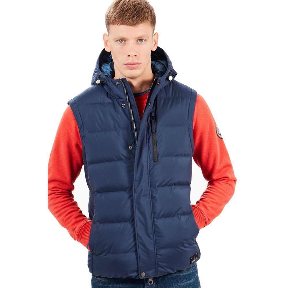 0fdd6e0b Timberland Goose Eye Vest Blue buy and offers on Dressinn