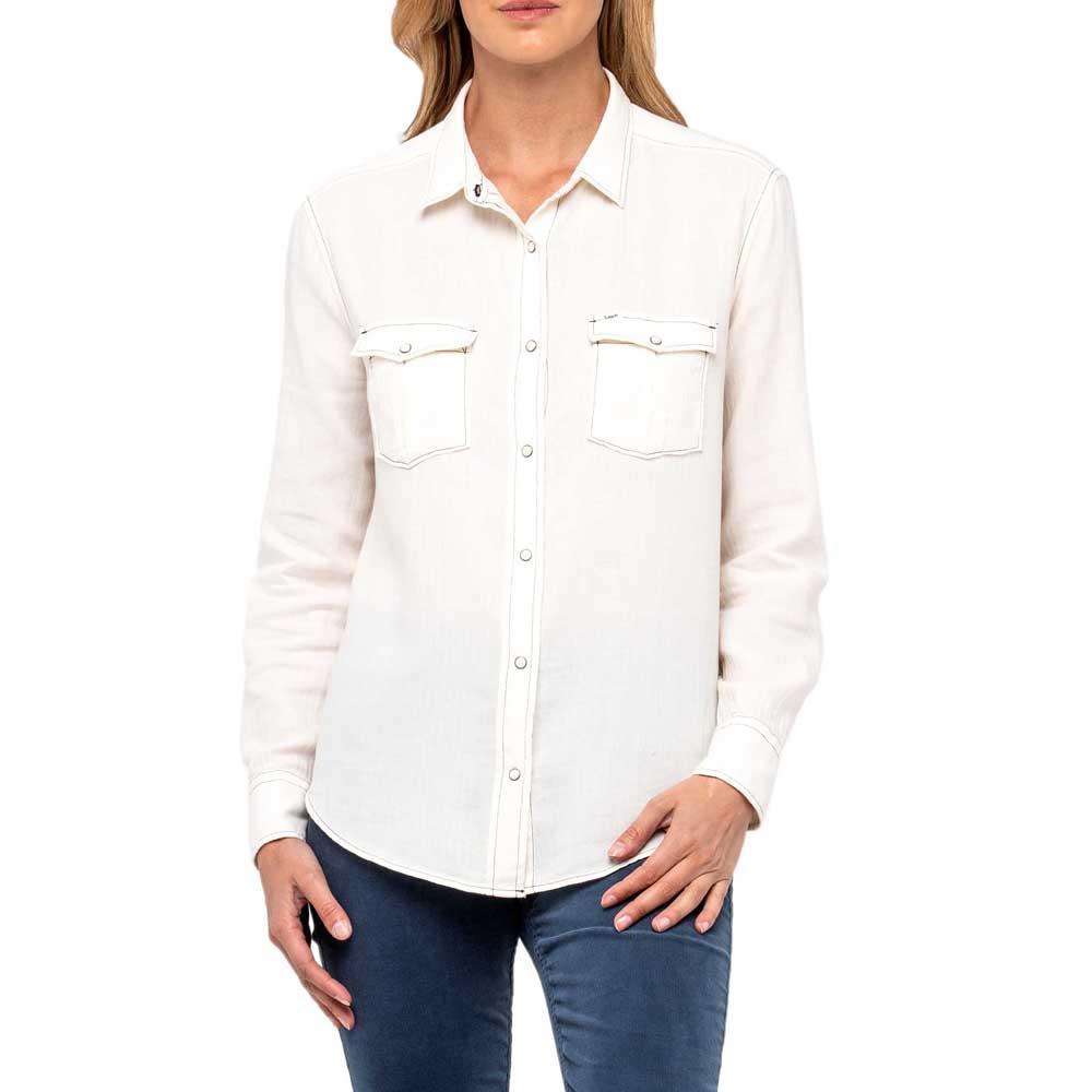 4a597896 Lee Western Shirt Weiß anfugen und sonderangebote, Dressinn