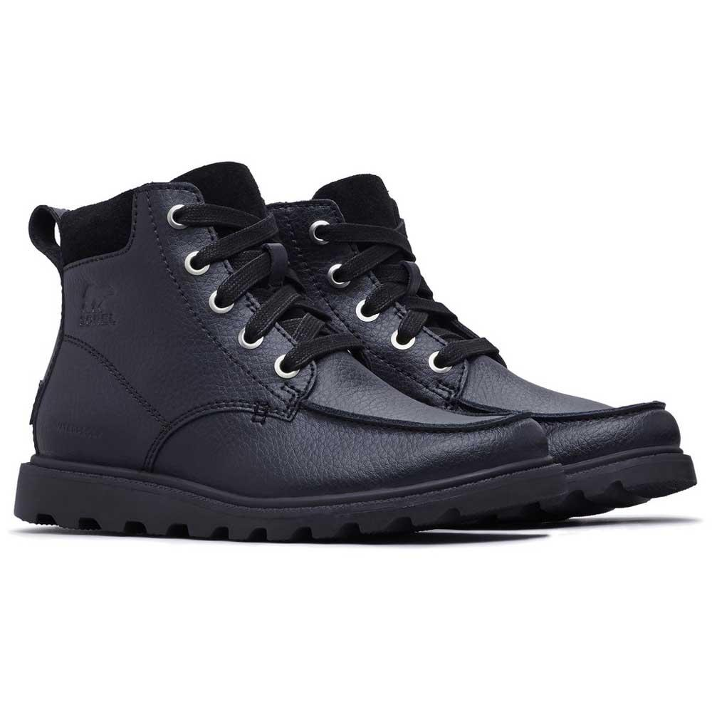 good service online here for whole family Sorel Youth Madson Moc Toe Waterproof Black, Dressinn