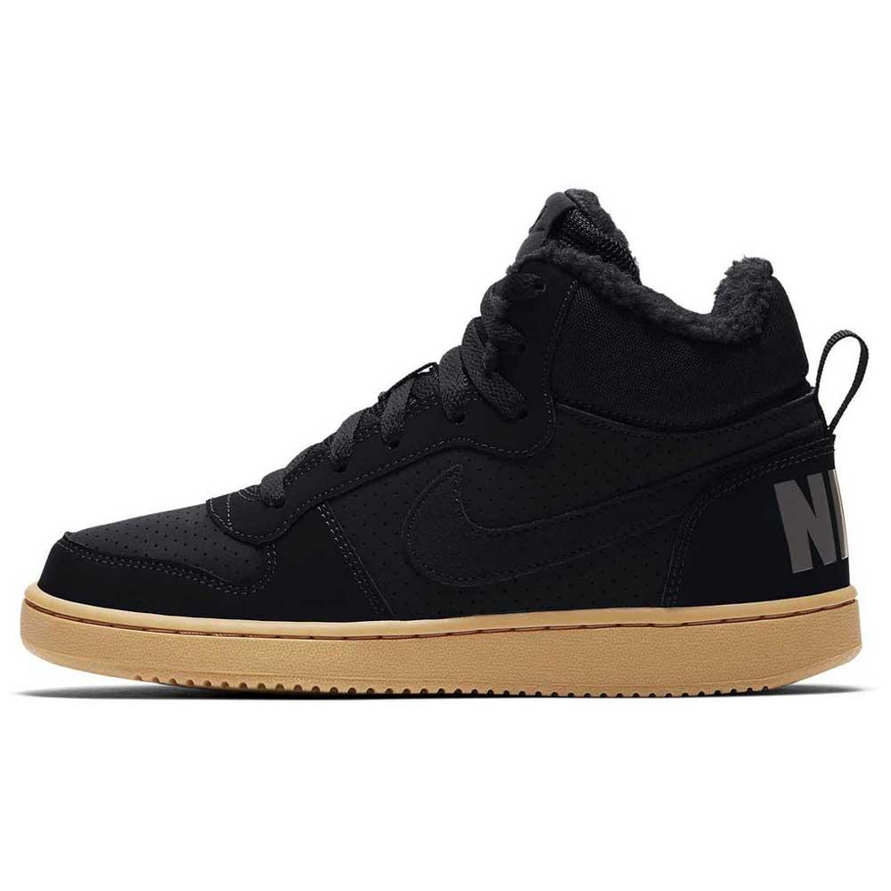 Nike Court Borough Mid Winter GS Zwart, Dressinn Sneakers
